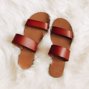 J. Crew Brown Boardwalk Sandals Size 6